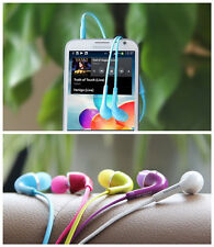 Luxury Hot Sale 3.5mm Earphone W/Volume Control For Samsung Galaxy S4 i950 color
