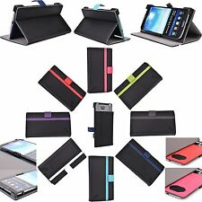 "For 6"" Smartphone Corner Protection Wallet Adjustable Universal Folio Case stand"