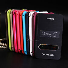 Leather Flip Book Case Hard Cover For Samsung Galaxy Note 1 N7000 i9220 i717