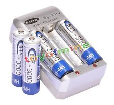 4x AA Ni-MH 3000mAh rechargeable battery BTY+AA AAA Rechargable battery Charger