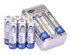8x AA Ni-MH 3000mAh rechargeable battery BTY+AA AAA Rechargable battery Charger