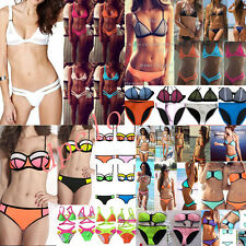 Women's Bandage Bikini Set Push up Padded Bra Top Swimsuit Bathing Suit Swimwear