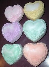 One 4.5oz Decorative Heart Shaped with Rose Bath Bar Gift Soap