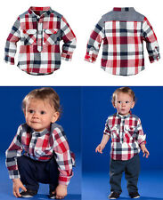 New Baby Boys Blouse+Pants 2pcs Clothes Suit Gentleman Children Clothing Sets