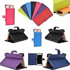 "New Adjustable Universal Folio Case Stand Corner Protection for 5.1"" Smartphone"
