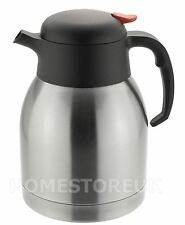 STAINLESS STEEL DOUBLE WALL ISOLATING JUG VACUUM THERMOS FLASK TEAPOT COFFEE