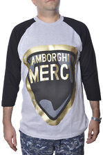 Kanye West Lamborghini Mercy Car Urban Hip Hop Gold Rapper Plus Size Raglan