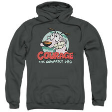 Courage The Cowardly Dog Cartoon CN Courage Adult Pull-Over Hoodie
