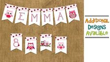 BANNER ~ Personalized Birthday Bunting Flags Garland Party Decoration