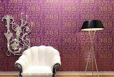 365 Happy Smile Roll Non-woven Flocking Wallpaper Living room TV Sofa Background