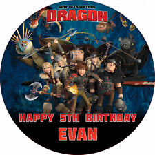 """How to Train Your Dragon 2 7.5"""" ROUND Cake Topper Rice Paper/Icing 24HR POST!"""