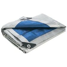 All Purpose Waterproof Tarp Weather Tear & UV Resistant Rain Cover Silver