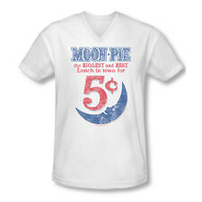 Moon Pie Marshmallow Cookie Dessert Biggest&Best Vintage Style AdultVneckTshirt