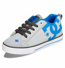 DC SHOES SKATE GREY LEATHER SKATEBOARD TRAINER KIDS KID BOY + ADULT SIZES BNIB