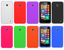 Cricket Nokia Lumia 630 Rubber SILICONE Soft Gel Skin Case Phone Cover Accessory