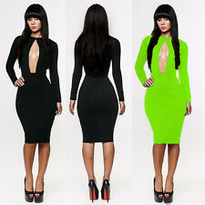 Sexy Women Lace Long Sleeve Slim Fashion Bodycon Party Cocktail Evening Dress