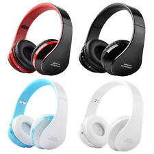 Foldable Wireless Bluetooth Stereo Handsfree Headset Headphones Mic For iPhone