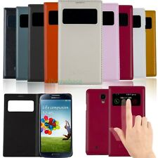Smart Wake PU Leather View Window Case Flip Cover for Samsung Galaxy S 4 i9500
