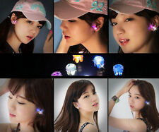 one Pair Light Up LED Bling Earrings Ear Studs Dance Party Accessories Blinking