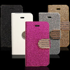 Bling Strass Aimant PU Cuir Housse Coque Etui Case Support Portefeuille Pr Phone