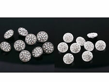 DB7 10 x Gorgeous 14mm Diamante Rhinestone Crystal Topper Gems Inset Buttons