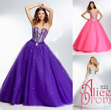 New Beads Quinceanera/Party/Evening/Prom/Cocktail dress/Ballgown/Sz 6 8 10 12 14