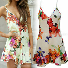 New Sling Strap Flower Print Sexy V Neck Jumpsuit Playsuit Romper Short Hot Pant