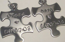 BFF's Couple Set of Custom Key Chains or Necklaces Boy & Girl Friend Birthday
