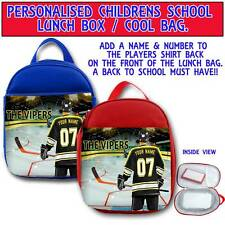 PERSONALISED NEWCASTLE VIPERS ICE HOCKEY CHILDRENS SCHOOL LUNCH BOX COOL BAG