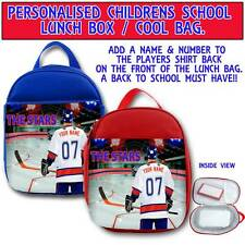 PERSONALISED DUNDEE STARS ICE HOCKEY CHILDRENS SCHOOL LUNCH BOX COOL BAG