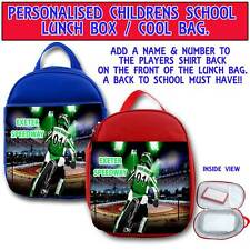 PERSONALISED EXETER FALCONS SPEEDWAY CHILDRENS SCHOOL LUNCH BOX COOL BAG