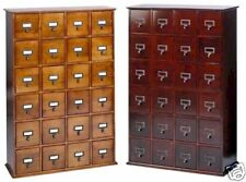 Hardwood Library 192 DVD 456 CD Storage Drawer Cabinet