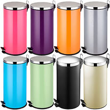 30 Litre Stainless Steel Colour Swing Kitchen Pedal Rubbish Recycle Waste Bins