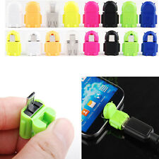 Robot Micro USB To USB 2.0 Host OTG Adapter Converter For Android Phone Tablet J