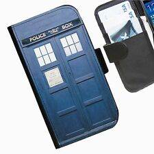 Dr Who Leather wallet phone personalised case for Sony Xperia Phone