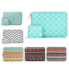 "Mosiso Bohemian Style Canvas Fabric  Sleeve Case Bag Cover for 11,13,15 "" Laptop"