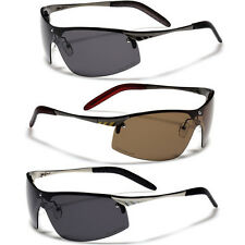 POLARIZED HALF FRAME MENS RIMLESS SUNGLASSES FISHING GOLF OUTDOOR SPORTS DRIVING