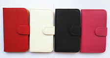 Litchi grain Card slots PU leather Wallet Pouch Cover Case for HTC Phones