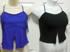 NWT Split front camisole crisscross top shelflined Ladies L/XL great ex support