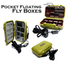 Floating Mini System Fly Boxes with Compartments/Foam for Fly & Trout Fishing