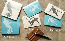 2014 Barefoot Waterski Vinyl Decals for Car Window Laptop Ski Boat