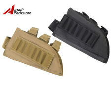 NEW Tactical Military Airsoft Rifle Shotgun Stock Ammo Pouch Holder Left Hand
