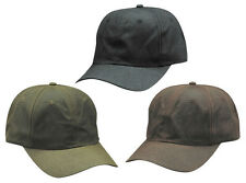 New Oil Cloth Rain Repellent Waterproof Baseball Cap Hat Hunting One Size