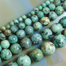 "Natural African Turquoise Gemstone Round Beads 16"" 4mm 6mm 8mm 10mm 12mm"