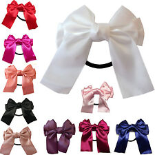 New Ladies Multicolor Satin Ribbon Bow Hair Band Rope Scrunchie Ponytail Holder