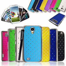 Sparkly Shiny Diamond Chrome Side Hard Back Case Cover For Various Phones+Stylus
