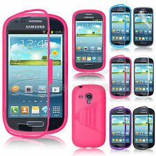 Slim Flip TPU Case With Bulit-in Front Cover For Samsung Galaxy S3 Mini i8190