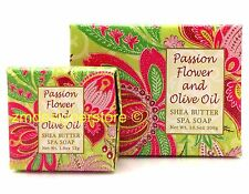 Passion Flower Olive Oil French Milled Shea Butter Soap Greenwich Bay 10.5 1.9oz
