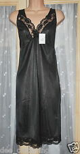 "Black silky nylon full slip, BN, 42"", nightie maybe"