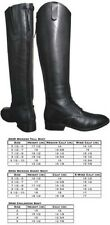Ladies Womens Smoky Mountain Black Leather English Field Hunt Seat Boots asst sz